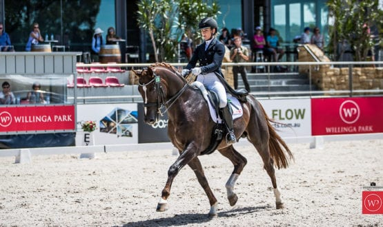 Alexis Hellyer and'Bluefields Floreno' win the class with a score of 69.76%