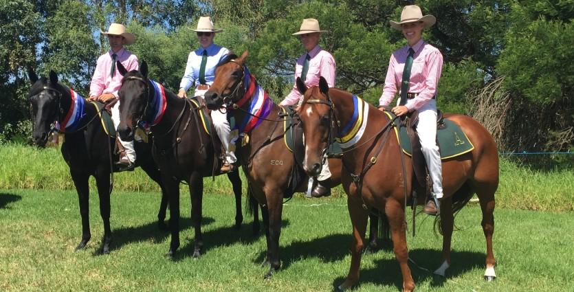 Four men on horses