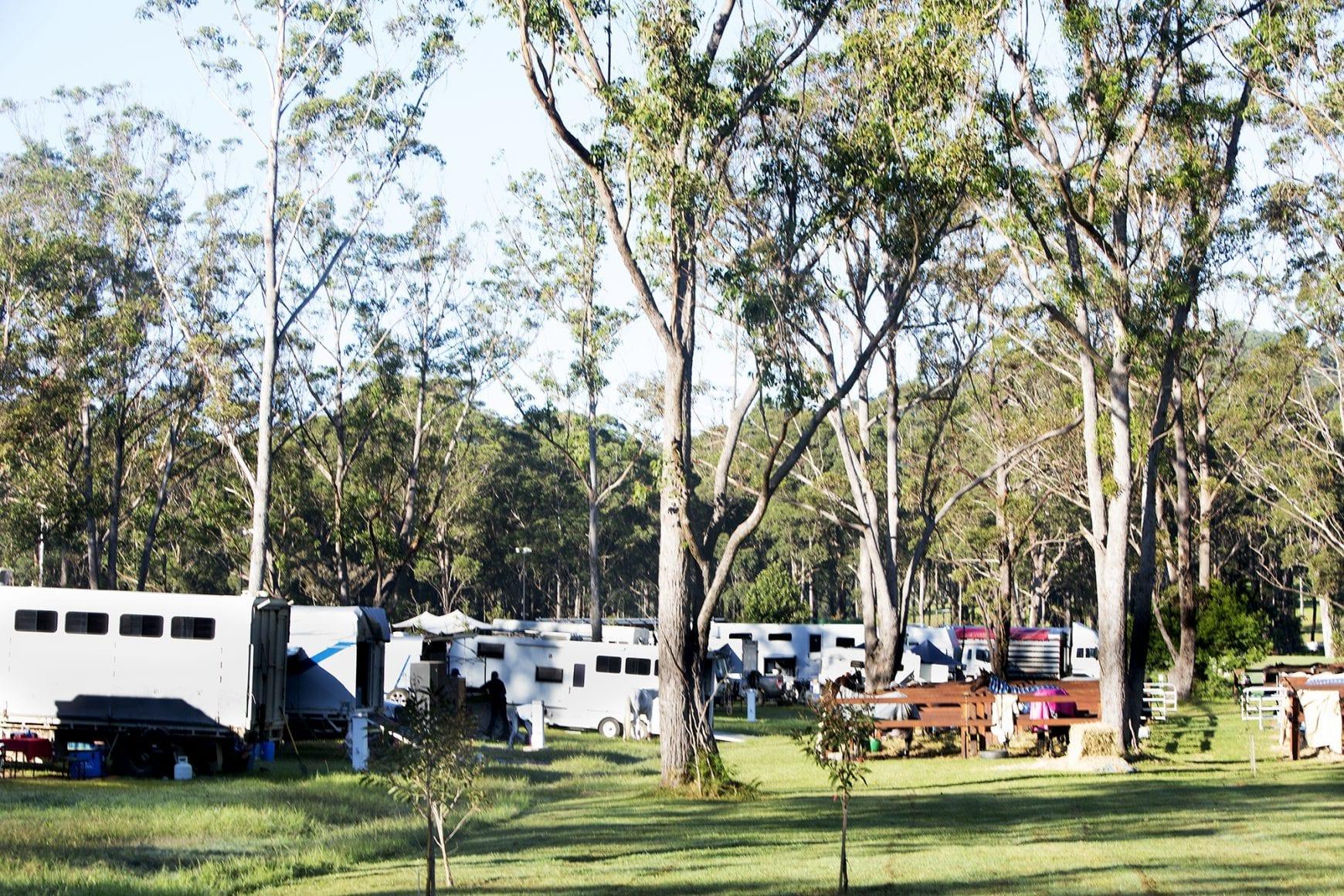 Caravans parked at Willinga