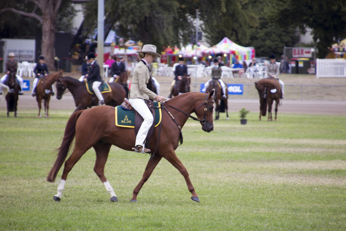 River and Amelia at the Canberra Show