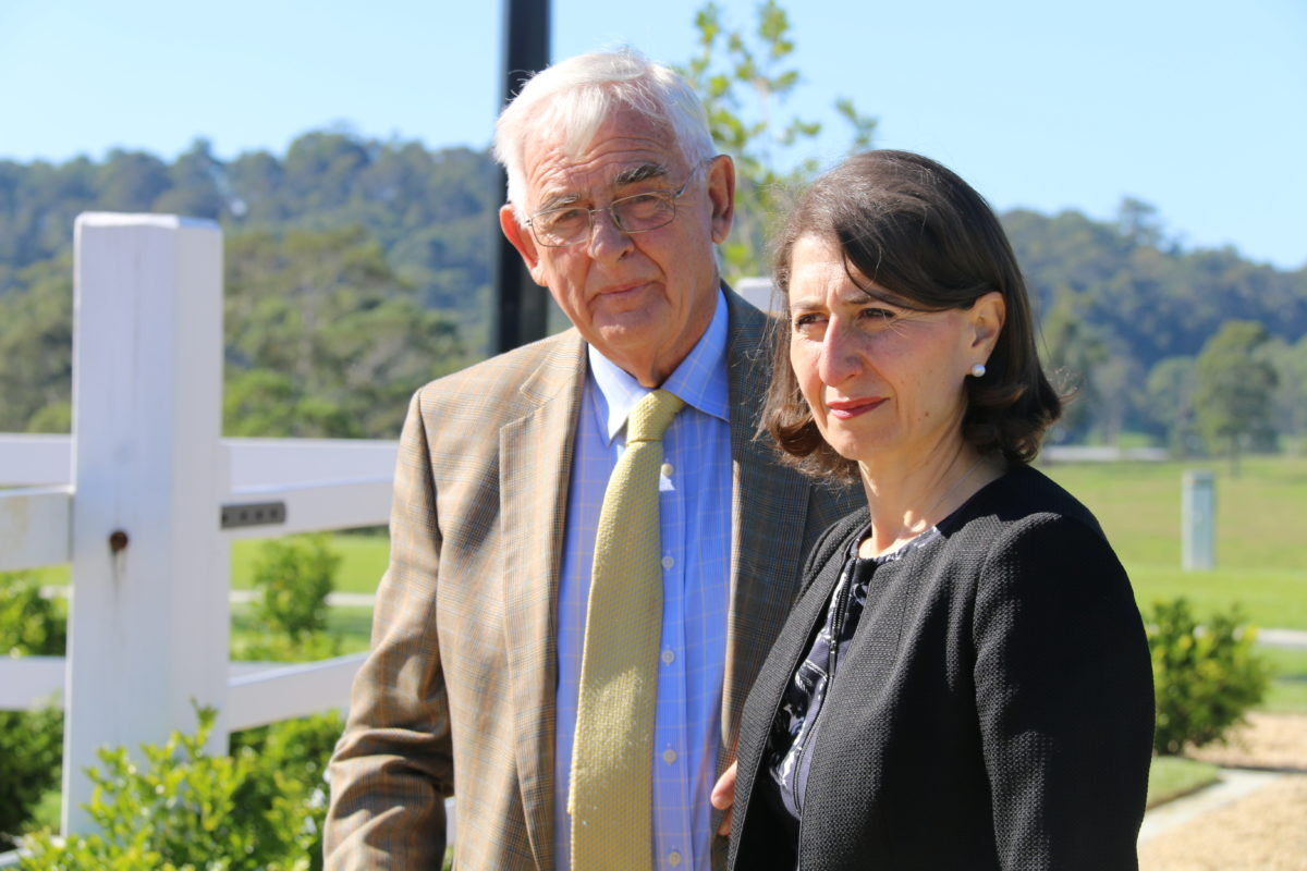 Terry Snow with New South Wales Premier