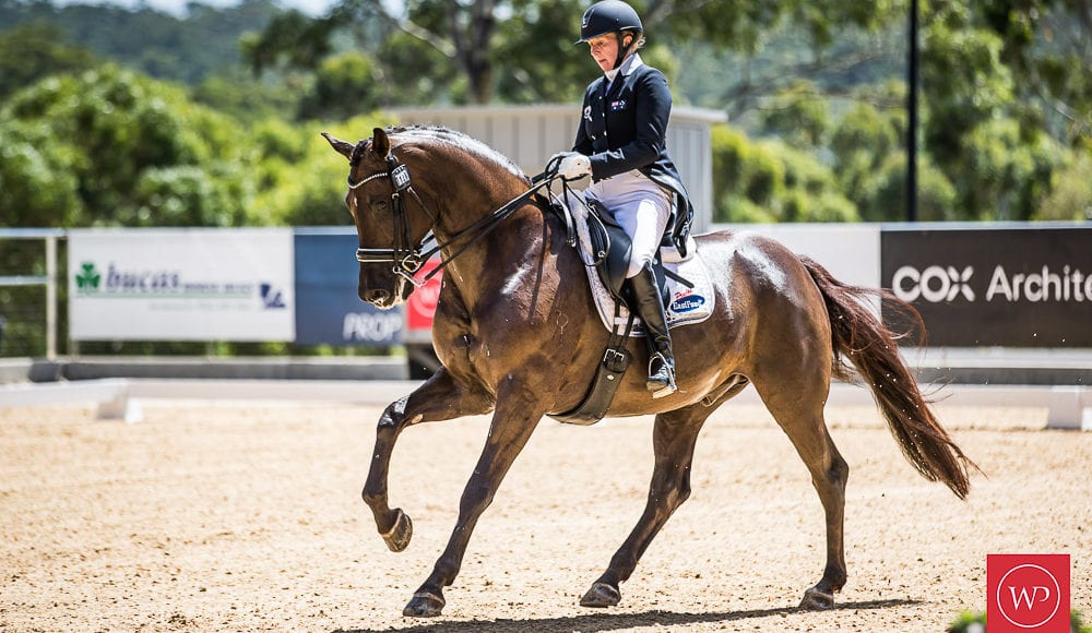 WP919842-Rozzie Ryan and'Jarrah R' win the Grand Prix Special CDI4 Star class with a 66.489% test