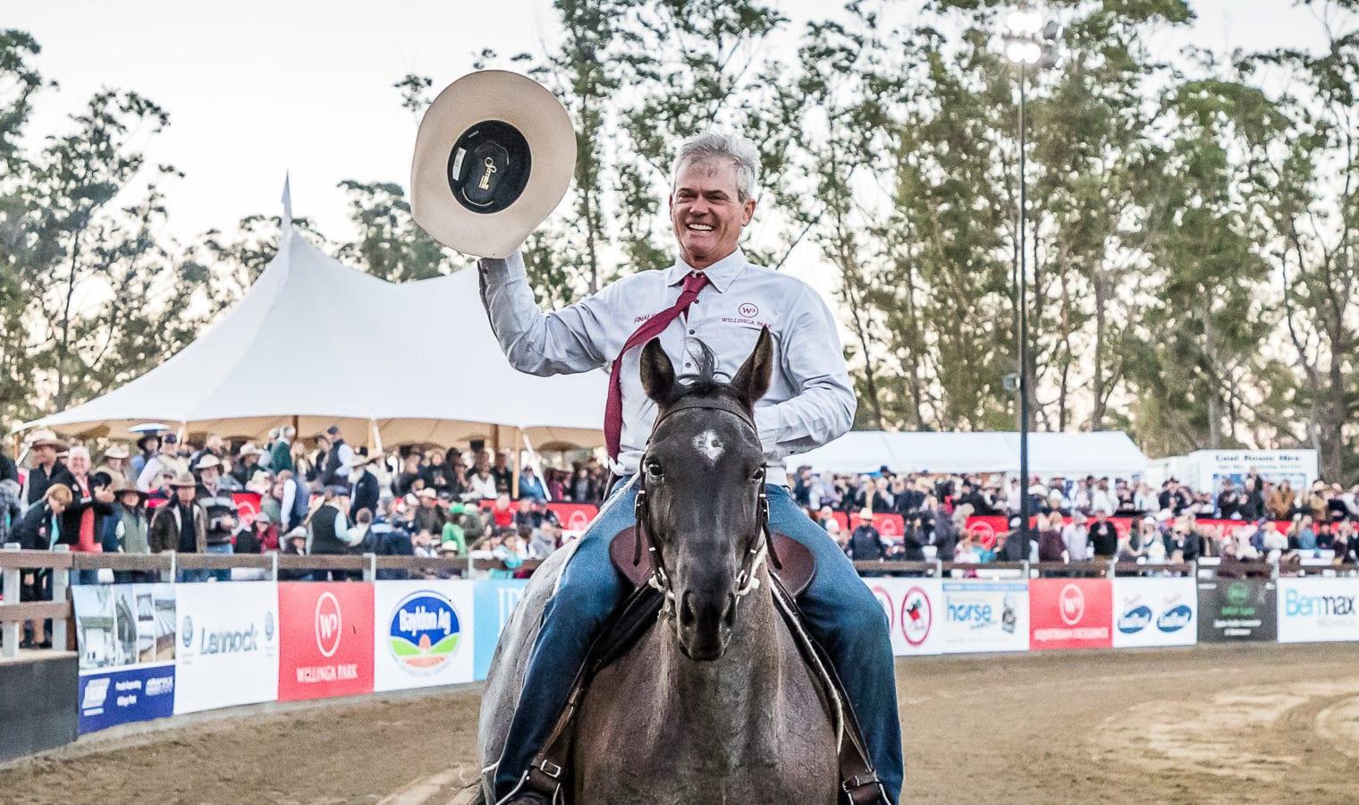 Winning rider of campdraft