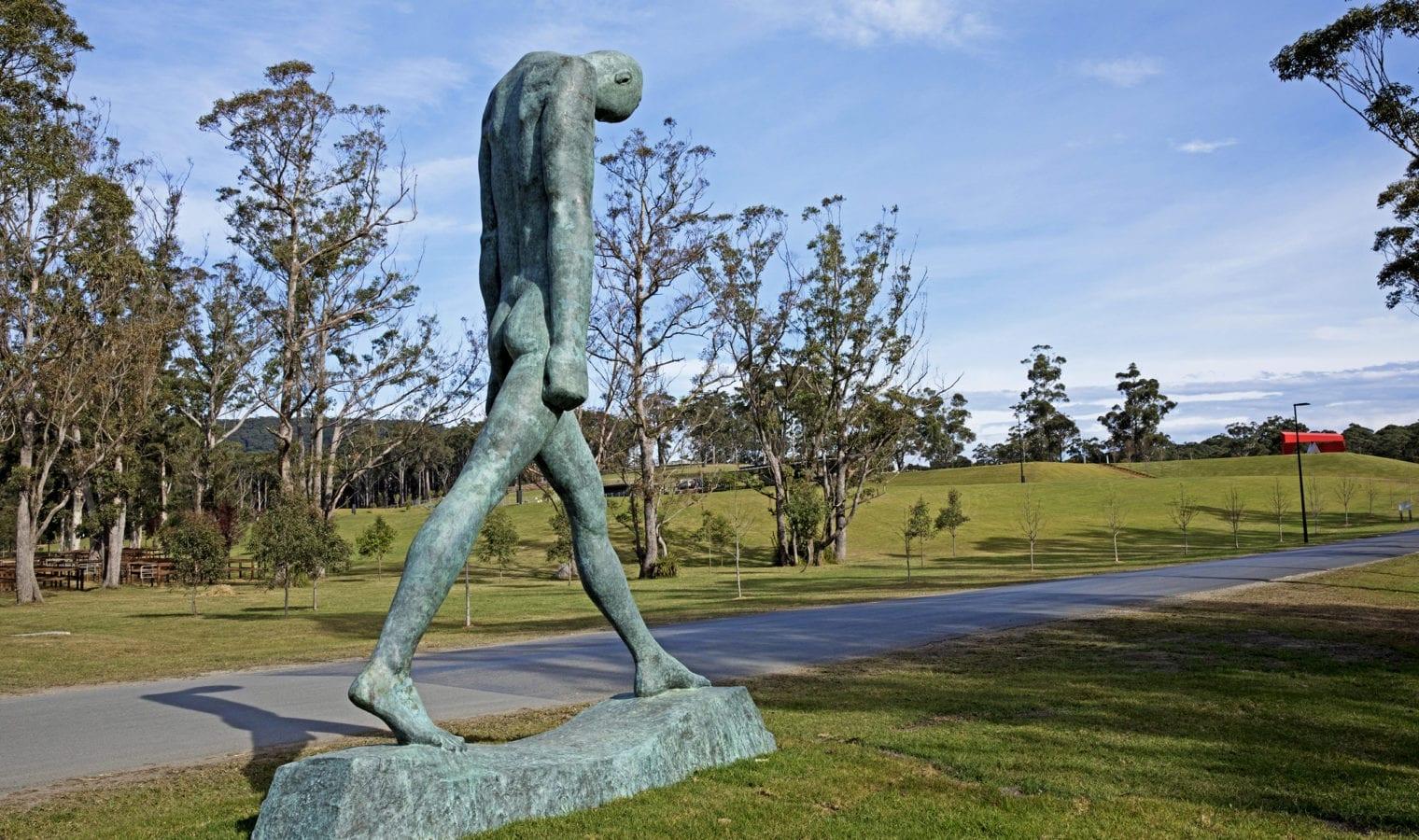 Walking man sculpture