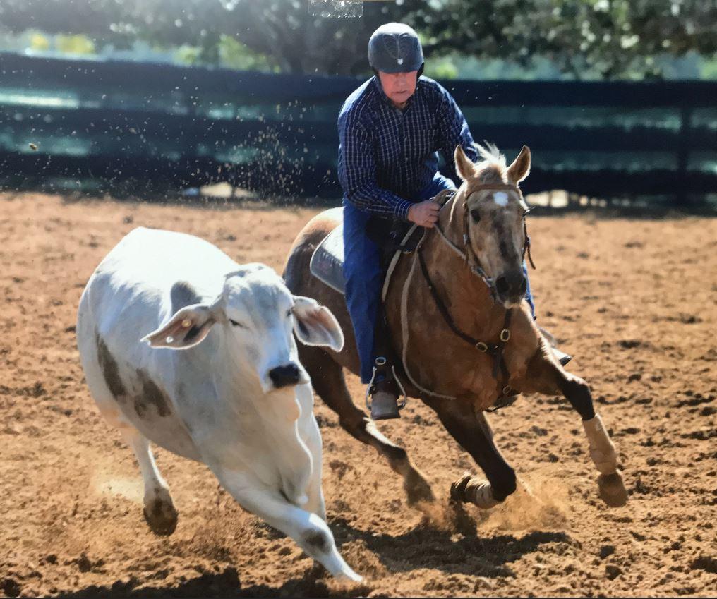 Bruce McNaughton riding Dreams of Acres
